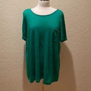 Clover green Boden linen shirt / braided back 16